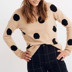 Madewell Dot Graystone Pullover Sweater Size Small